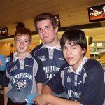 Un des trios garçons (Christopher Tremblay, Bernard Junior Fournier et Simon Jutras-Martineau).