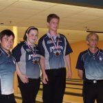 Duo 15-17 qui a remporté la médaille de bronze (Stéphanie Hudon et Dominic Tremblay).