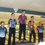 Simple 18-21 ans qui a remporté la médaille d'argent avec 2 parties parfaites dans la journée (David Beauséjour).