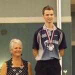 David Beauséjour, dans la catégorie 18-21 ans, remporte la médaille d'argent au cumulatif.